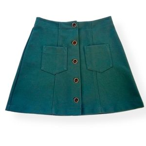 Vintage D'Knits Francine Browner Button Mini Skirt